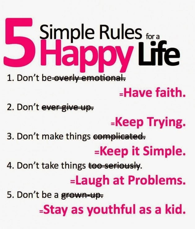5 simple rules of happy, Be Gratefull